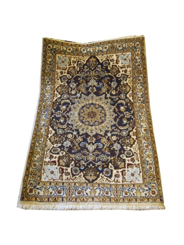 PERSIAN CARPET NAIEN WITH WOOL AND SILK