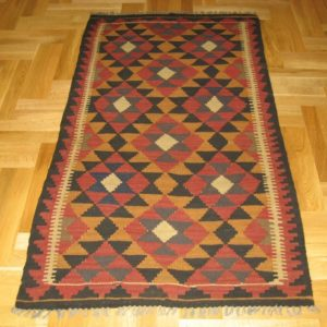 AFGHAN KILIM WOOL NATURAL COLORS 96X174 CM