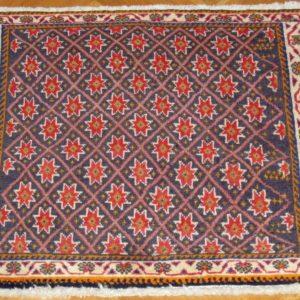 PERSIAN CARPET QASHQAI NOMAD MADE NATURAL WOOL AND COLOR 58X62 CM