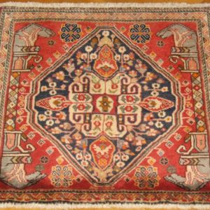 PERSIAN CARPET QASHQAI NOMAD MADE NATURAL COLOR AND WOOL 66X62 CM