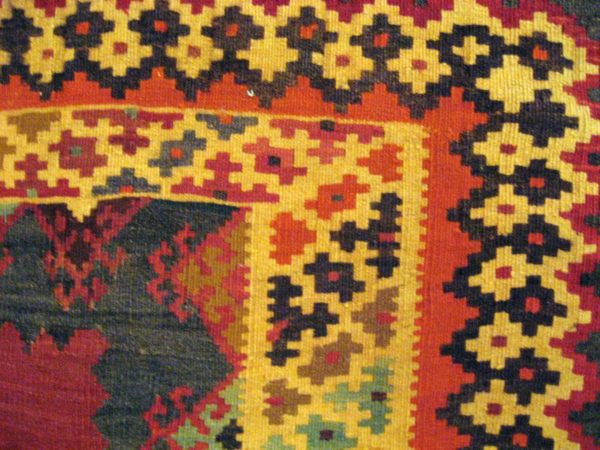 QASHQAI KILIM HANDWOVEN ORIGINAL PERSIAN WOOL 245X163 CM