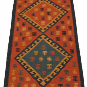 KILIM FARS PERSIAN NATURAL WOOL AND COLOR 123X63 CM