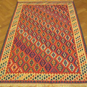 KILIM FARS PERSIAN NATURAL WOOL AND COLOR 214X132 CM