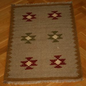 KILIM ARDABIL PERSIAN NATURAL WOOL AND COLOR 102X63 CM
