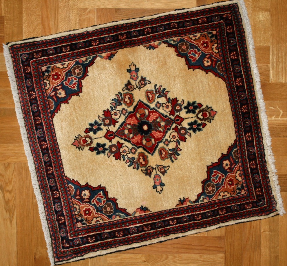 SARUGH, PERSIAN CARPET, HIGH QUALITY, NATURAL COLORS AND WOOL, 87X85 CM -  Behruz tepisi