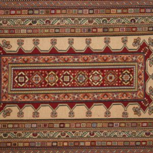 PERSIAN CARPET SIRJAN EMBROIDERED WOOL AND SILK 93X62 CM
