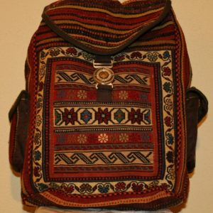 PERSIAN BACKPACK HAND MADE EMBROIDERED WITH PADDING PERMANENT AND HIGH QUALITY MADE 35X15X40 CM