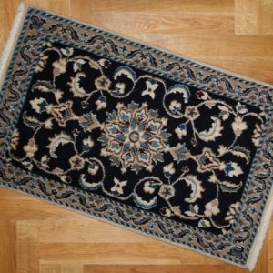 PERSIAN CARPET NAIEN SPECIALLY SORTED WOOL AND NATURAL COLORS 90X60 CM