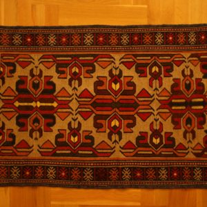 QUCHAN PERSIAN CARPET KHORASAN PROVINCE EMBROIDERED WOOL 138X81 CM