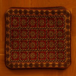 PERSIAN PILLOW SLIP KILIM EMBROIDERED KHORASAN PROVINCE 45X45 CM