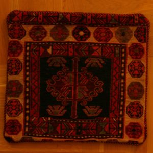 KILIM PILLOW SLIP PERSIAN HAND WORK EMBROIDERED WOOL 35X35 CM