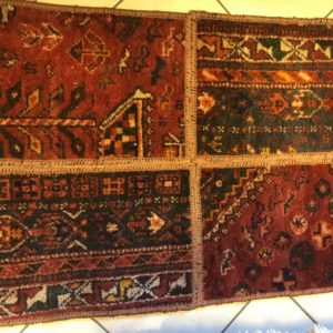 PERSIAN CARPET PATCHWORK VINTAGE WOOL 100X60 CM