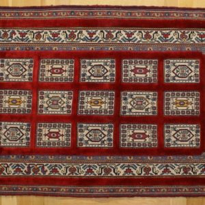 PERSIAN KILIM, EMBROIDERED, WOOL, 133X89 CM
