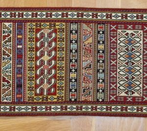 PERSIAN KILIM, EMBROIDERED, WOOL, 149X31 CM