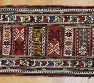 PERSIAN KILIM, EMBROIDERED, WOOL, 147X33 CM