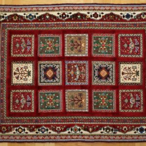 PERSIAN KILIM, EMBROIDERED, WOOL, 144X101 CM